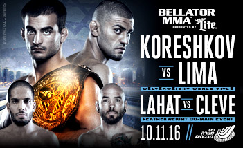 BELLATOR MMA PRESENTS KORESHKOV VS LIMA WELTERWEIGHT WORLD TITLE